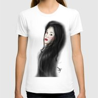 The Ghost Of Christmas Y… Womens Fitted Tee White SMALL