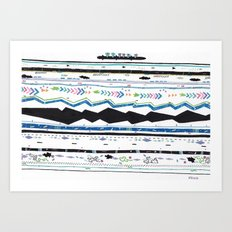 Layers and Layers of Shakespeare, & Riders, V Art Print