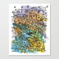 Set In Motion Canvas Print