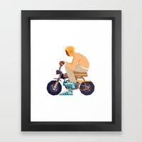 #2 HONDA Z50 Framed Art Print