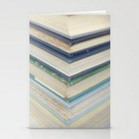 Blue Chevron Books Stationery Cards
