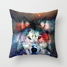 wolf universe Throw Pillow