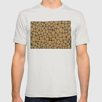 Yzor pattern 006-2 kitai beige Mens Fitted Tee Silver SMALL