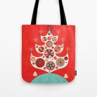 Festive Yule Christmas T… Tote Bag