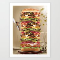 Hamburger Tower Art Print