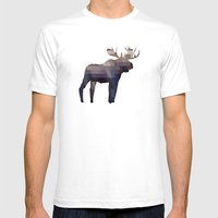 The Moose Mens Fitted Tee White SMALL