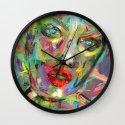 Ultraviolet Drops Wall Clock