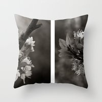 White Profusion  Throw Pillow