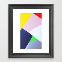 Collage n°1 Framed Art Print