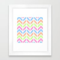 SPRING CHEVRON 3 Framed Art Print