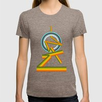 Where are we going Womens Fitted Tee Tri-Coffee SMALL