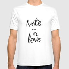 Vote for Love Mens Fitted Tee SMALL White