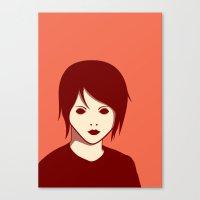 Emo Boy Canvas Print