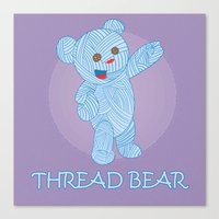 Thread-bear Canvas Print