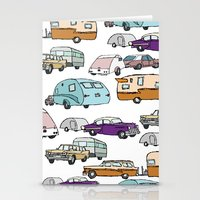 Cars and Campers Stationery Cards