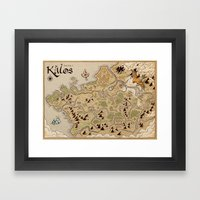 Kalos Map Framed Art Print