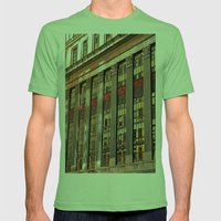 Downtown Reflections Mens Fitted Tee Grass SMALL