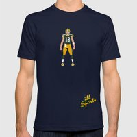 Cheese Head - Aaron Rodgers Mens Fitted Tee Navy SMALL