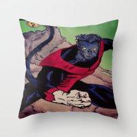 The Amazing Nightcrawler Throw Pillow