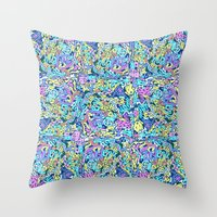 infinite scribbles Throw Pillow