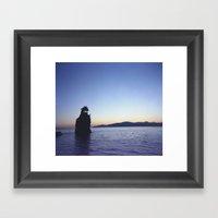 Shroomy Sunset Framed Art Print