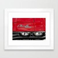 1969 Red Chevrolet Chevelle Car Framed Art Print