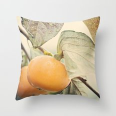 Autumn Peach Throw Pillow