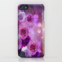 iPod Touch Cases featuring Rose Glow Abstract by Judy Palkimas