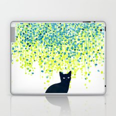 Cat in the garden under willow tree Laptop & iPad Skin