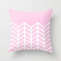 LACE CHEVRON (PINK) Throw Pillow