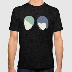 Tegan and Sarah Mens Fitted Tee Tri-Black SMALL
