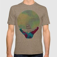 Cosmic Girl Mens Fitted Tee Tri-Coffee SMALL