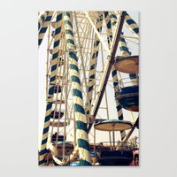 Vintage Ferris Wheel in Marseilles, France Canvas Print