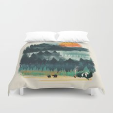 Wilderness Camp Duvet Cover