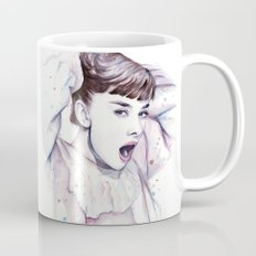 Audrey Hepburn Watercolor Mug