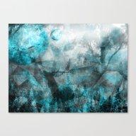 Magic Blue World Canvas Print