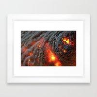 Flaming Seashell 1 Framed Art Print