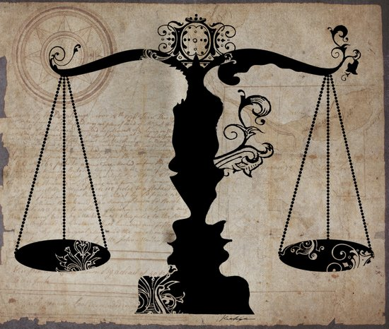 Weigh your Justice  Art Print