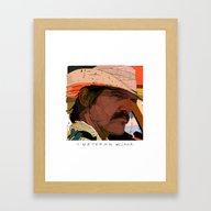 Framed Art Print featuring Brolin by Tony Rodriguez
