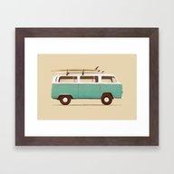 Blue Van Framed Art Print