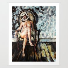 Astro Girl by Aaron Bir Art Print