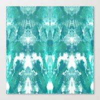 Aqua Blue Lagoon Canvas Print