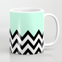 MINT GREEN COLORBLOCK CHEVRON Mug