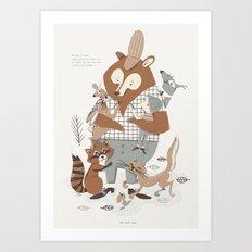 Bear Hug Art Print
