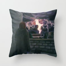 Majesty on a Rooftop Throw Pillow