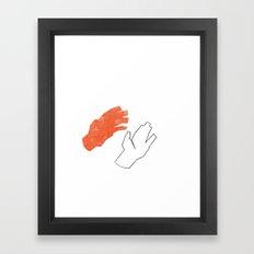 Two Hands Framed Art Print