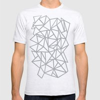 Abstract Outline Thick W… Mens Fitted Tee Ash Grey SMALL