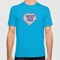 Super Nice Mens Fitted Tee Teal SMALL