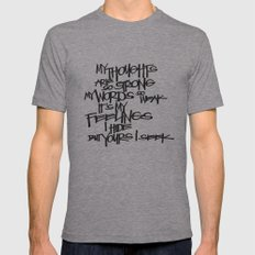 My Thoughts Are Strong Mens Fitted Tee Athletic Grey SMALL