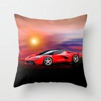 Red Ferrari Throw Pillow